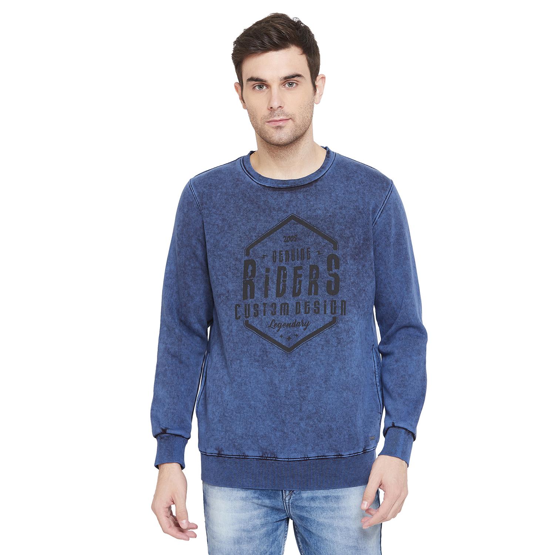 Crimsoune Club | Crimsoune Club Men's Blue Graphic Sweat Shirt