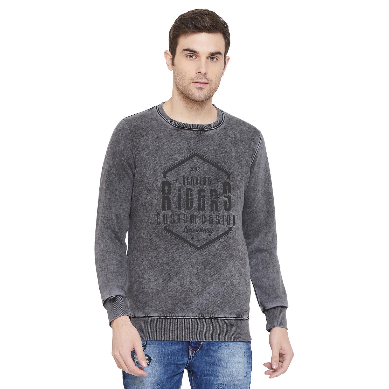 Crimsoune Club | Crimsoune Club Men's Grey Graphic Sweat Shirt