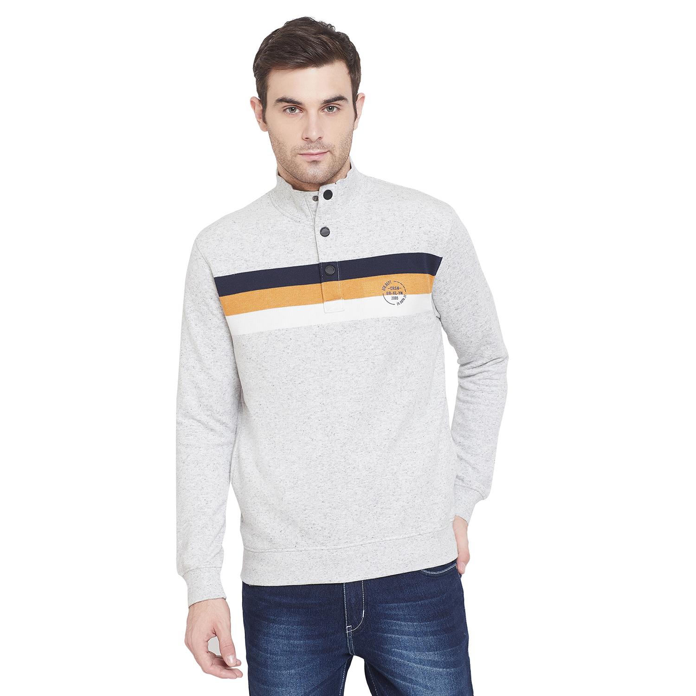 Crimsoune Club | Crimsoune Club Mens Colorblocked Mock collar Sweat Shirt