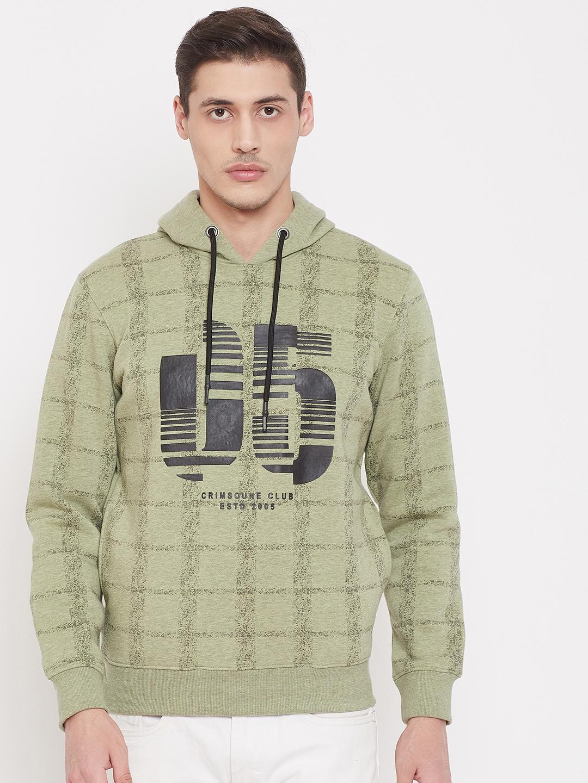 Crimsoune Club | Crimsoune Club Mens Printed Green Sweat Shirt