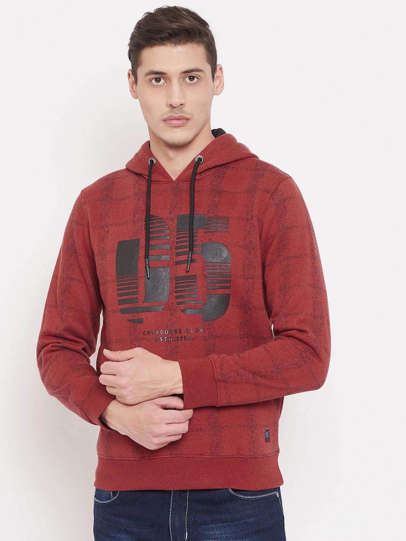 Crimsoune Club | Crimsoune Club Mens Printed Red Sweat Shirt