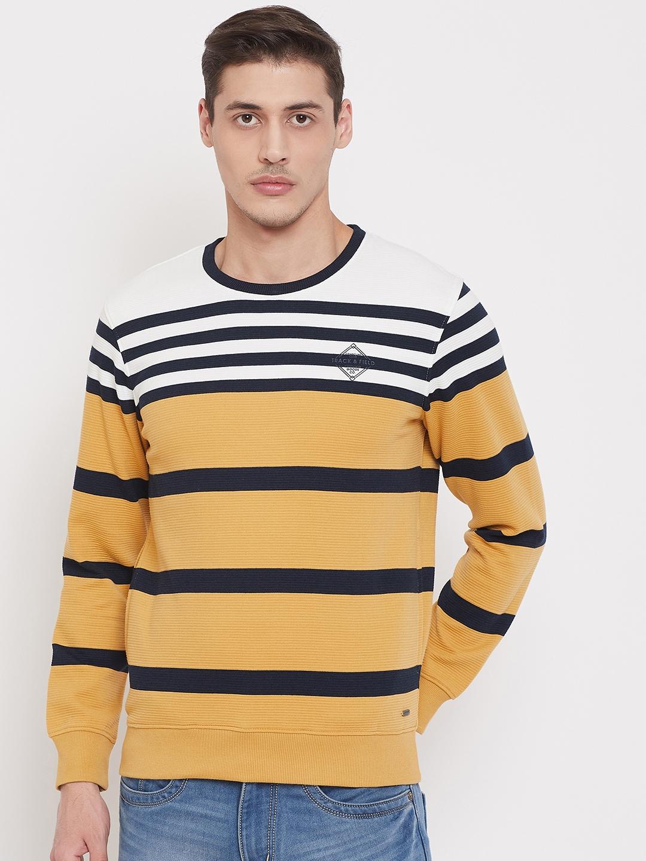 Crimsoune Club   Crimsoune Club Mens Striped Yellow Sweat Shirt