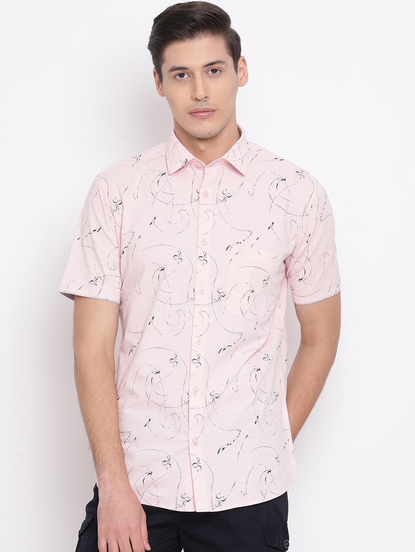 Crimsoune Club | Crimsoune Club Printed Pink Men's Shirt