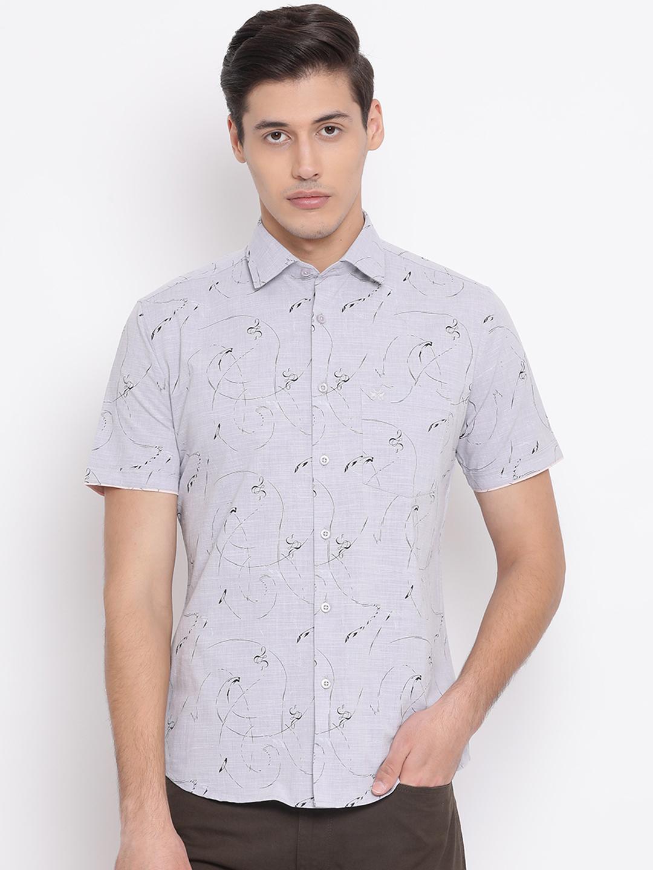 Crimsoune Club | Crimsoune Club Printed Grey Men's Shirt