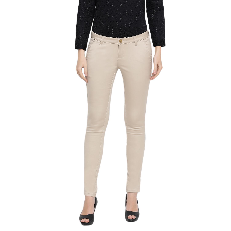 Crimsoune Club | Crimsoune Club Women's Solid Beige Trouser