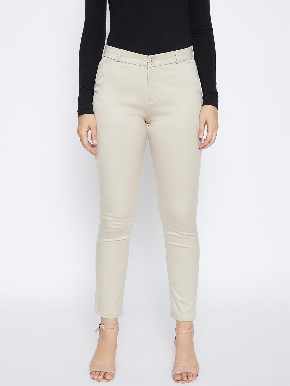 Crimsoune Club | Crimsoune Club Women's Cream Solid Trousers