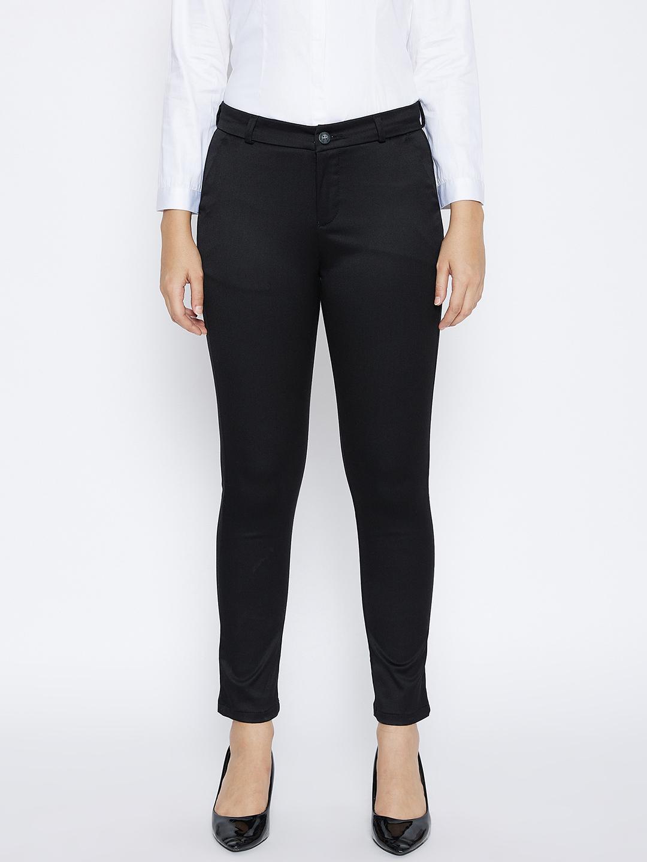 Crimsoune Club | Crimsoune Club Women's Black Solid Trousers