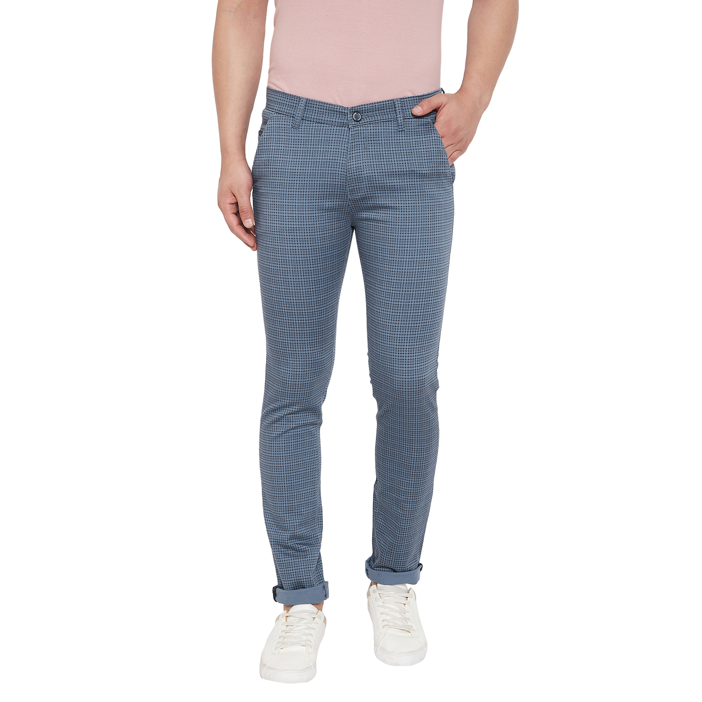 Crimsoune Club | Crimsoune Club Men's Light Blue Check Trouser