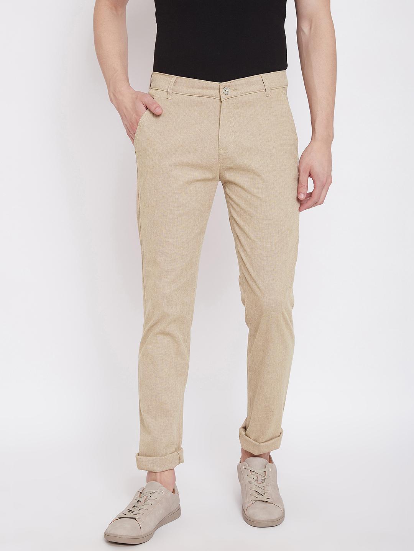 Crimsoune Club | Crimsoune Club Mens Solid Beige Trouser