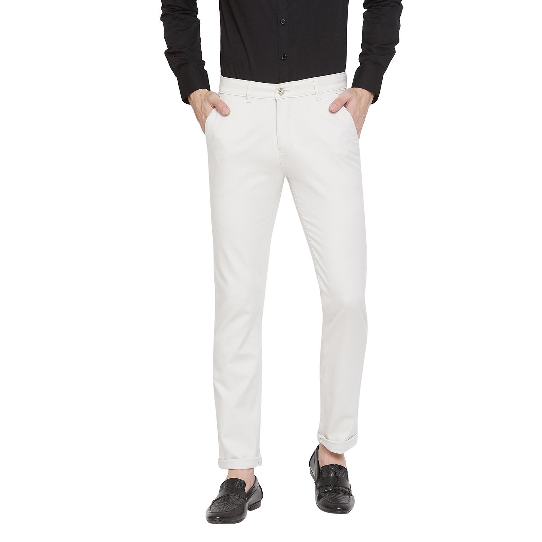 Crimsoune Club | Crimsoune Club Men's Off White Solid Trouser