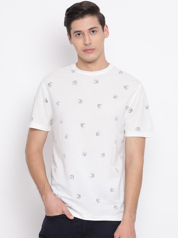 Crimsoune Club | Crimsoune Club Printed White Men's T-Shirt