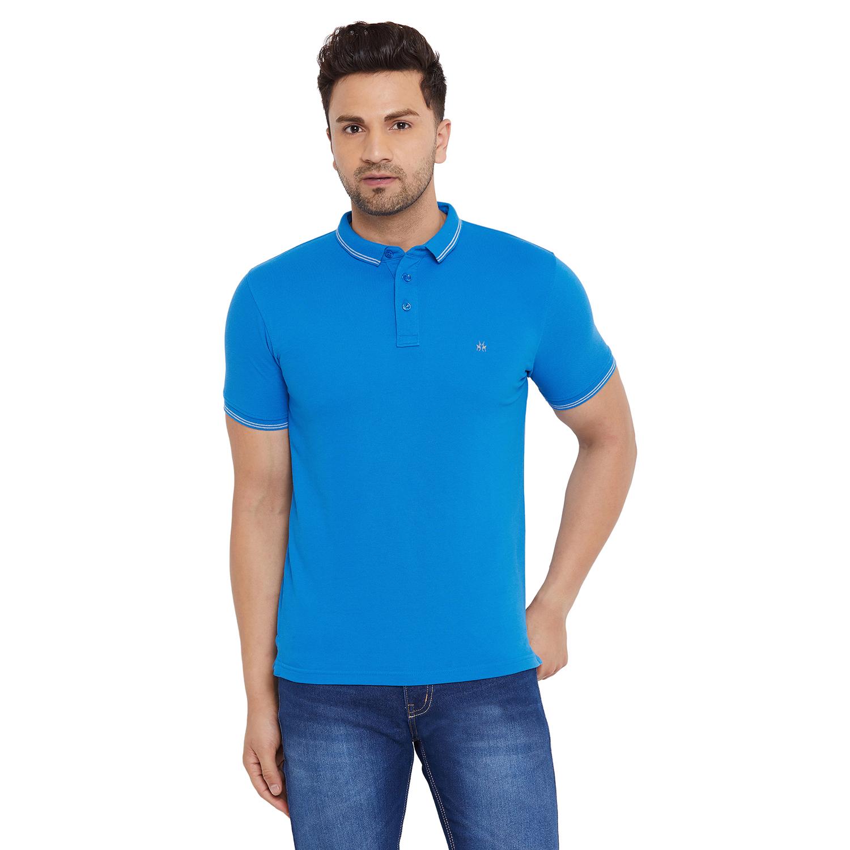 Crimsoune Club | Crimsoune Club Men's Solid Blue Tshirt