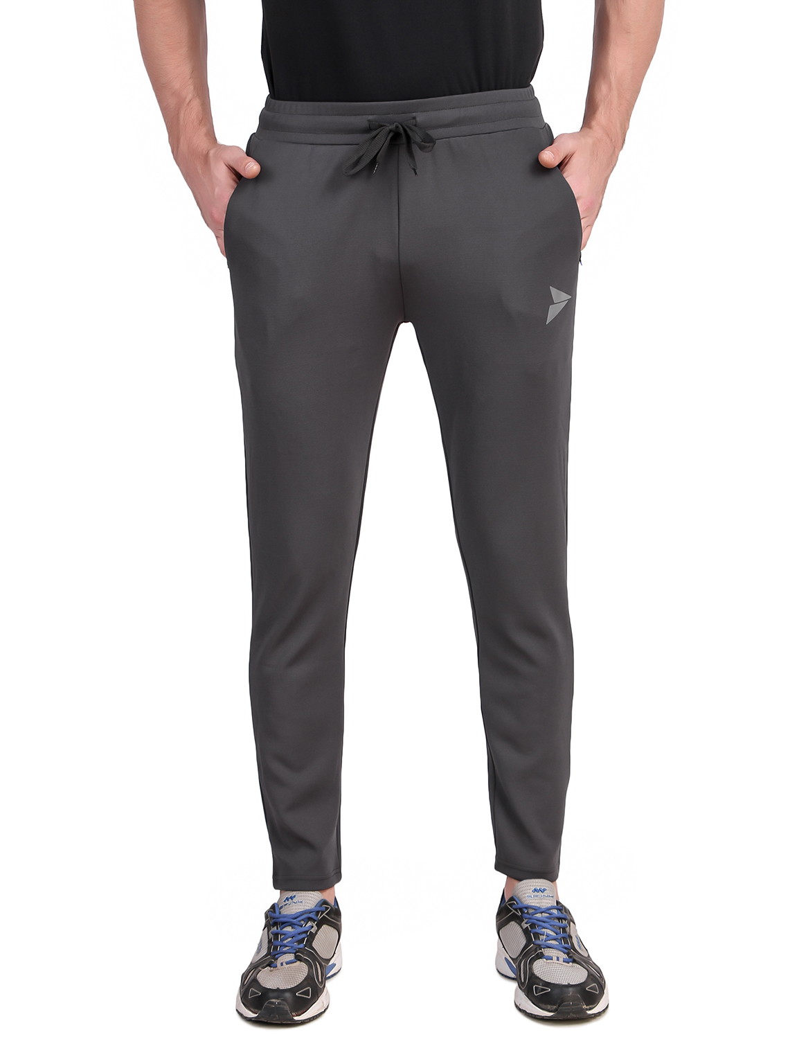 Fitinc | Fitinc Grey Track Pant with Concealed Zipper Pockets