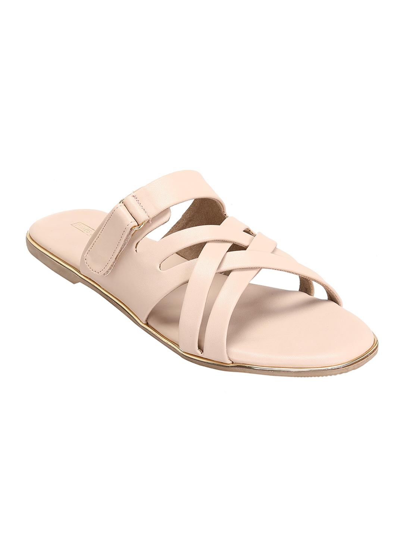 Trends & Trades   Women Cream Open Toe Flats