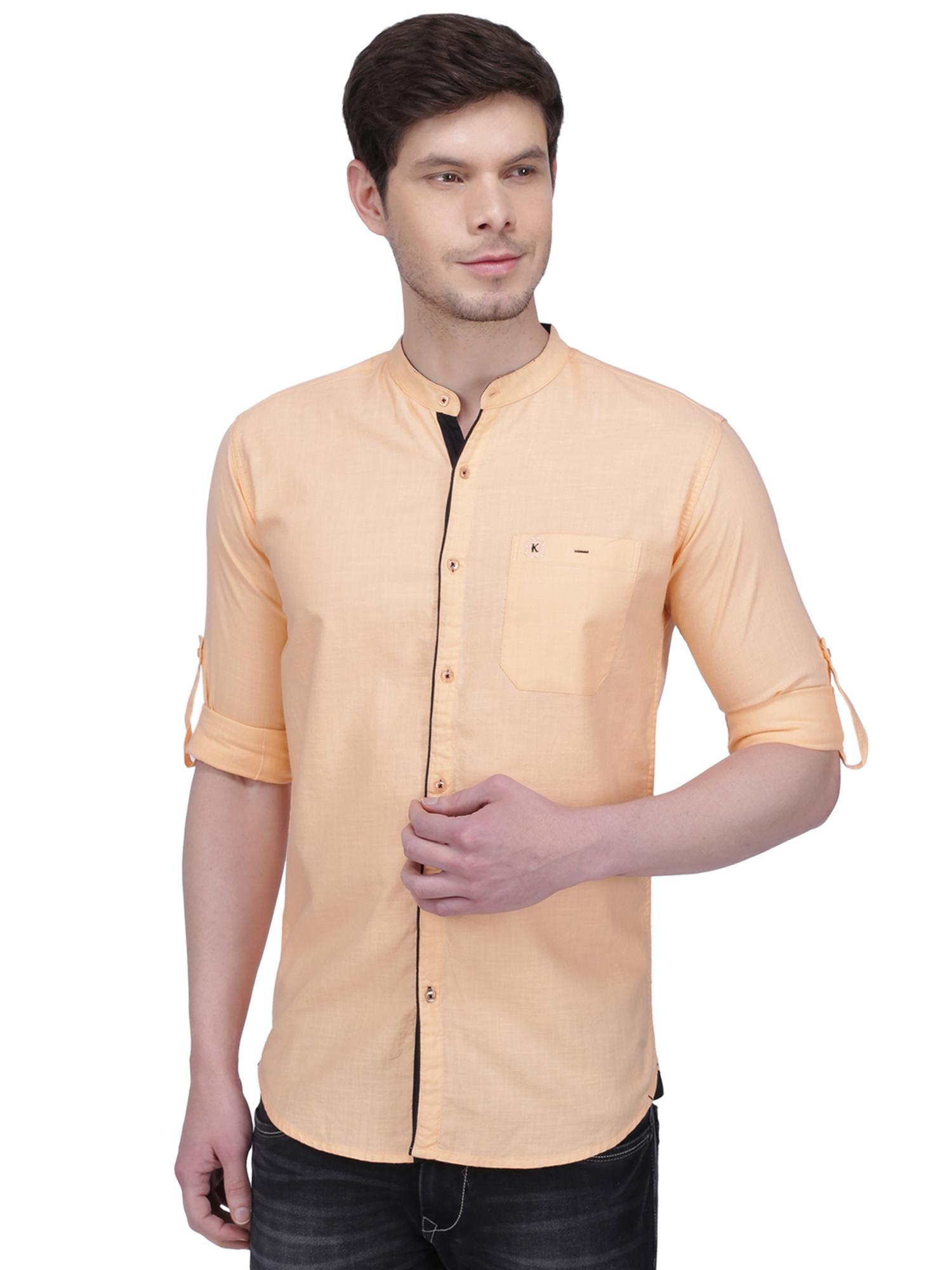 Kuons Avenue Men's Maroon Linen Cotton Casual Shirt- KACLFS1298PE
