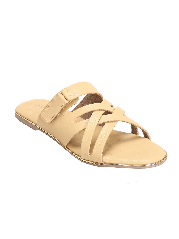 Trends & Trades | Women Mustard Open Toe Flats