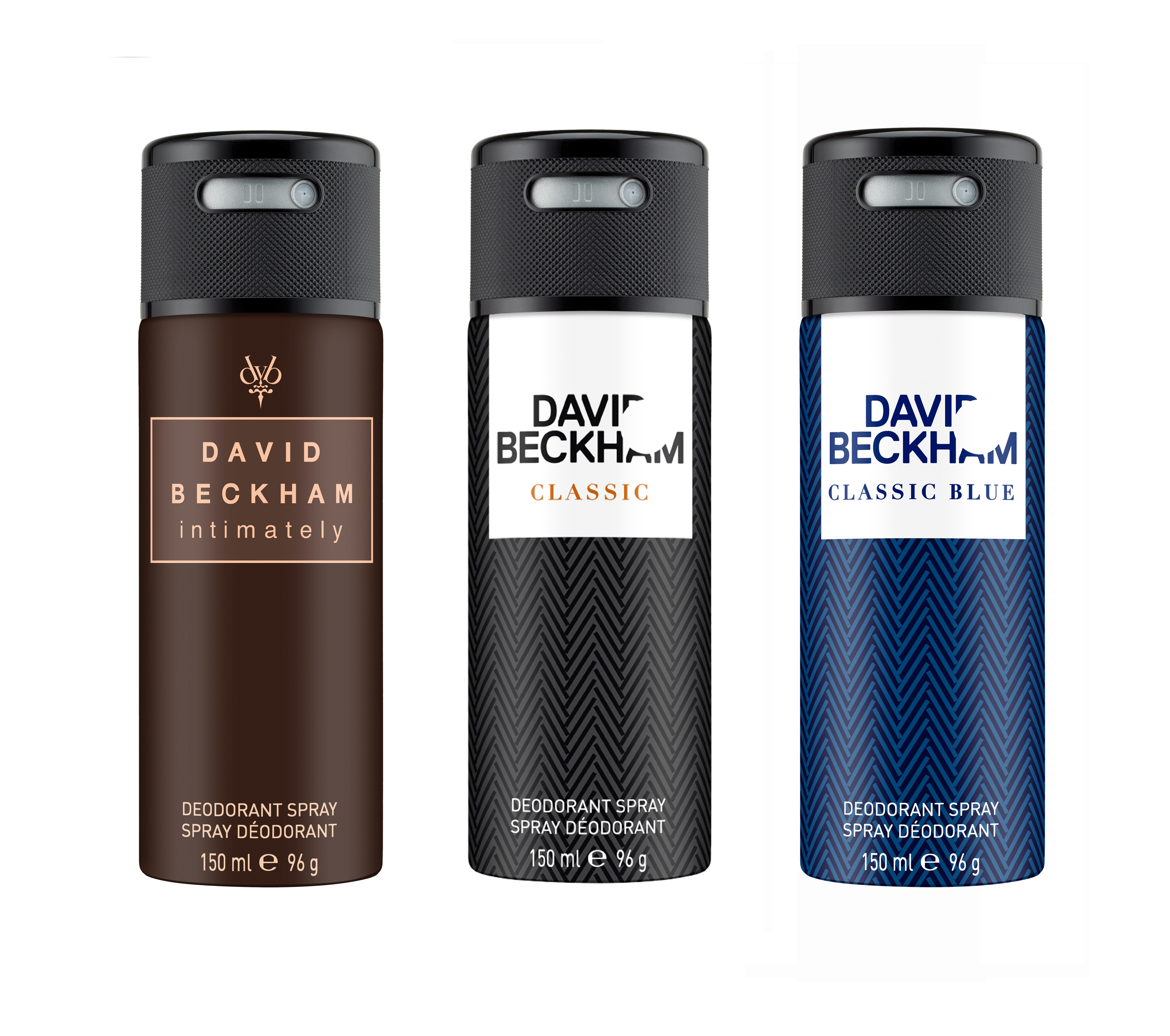 David Beckham | Classic and Classic Blue and Intimately Deo Combo Set of 3