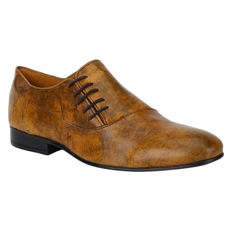 DEL MONDO | Del Mondo Genuine Leather Tan Colour Casual Lace up Shoe for Mens