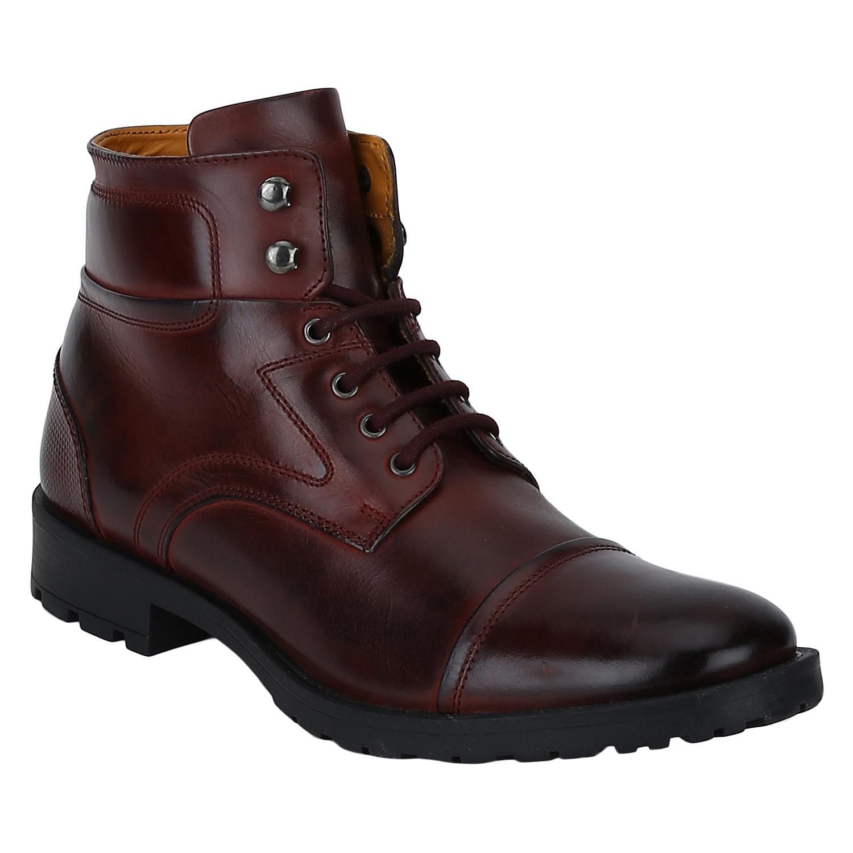DEL MONDO   Del Mondo Genuine Leather Cherry/Bordo Colour Oxford lace up Boots for Mens