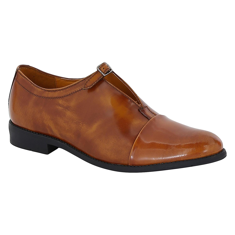 DEL MONDO | Del Mondo Genuine Leather Tan Colour Buckle Monk Slipon Loafer Shoe for Mens