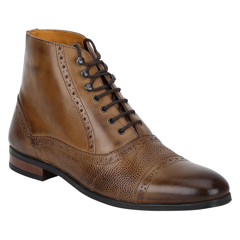 DEL MONDO   Del Mondo Genuine Leather TAN Colour Oxford lace up Boots for Mens