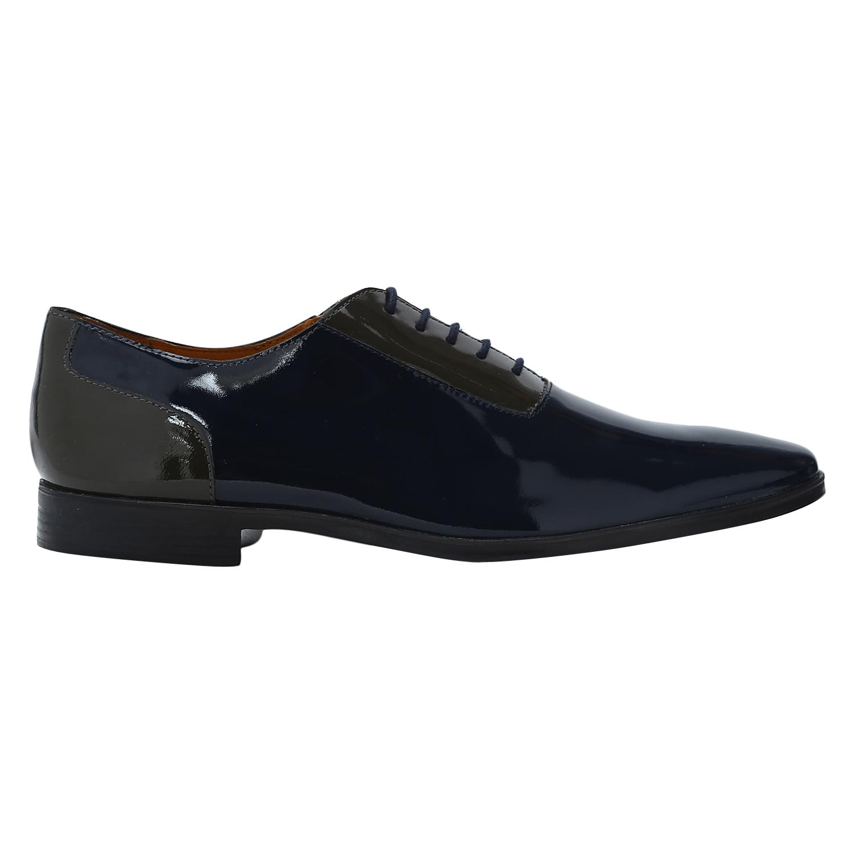 DEL MONDO | Del Mondo Genuine Leather Blue / DK GREY Colour Casuals Lace up Shoe for Mens