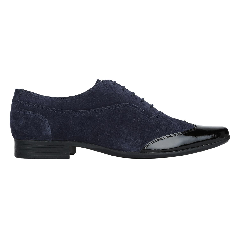 DEL MONDO | Del Mondo Genuine Leather Blue / Black Colour Casual Lace up Shoe for Mens