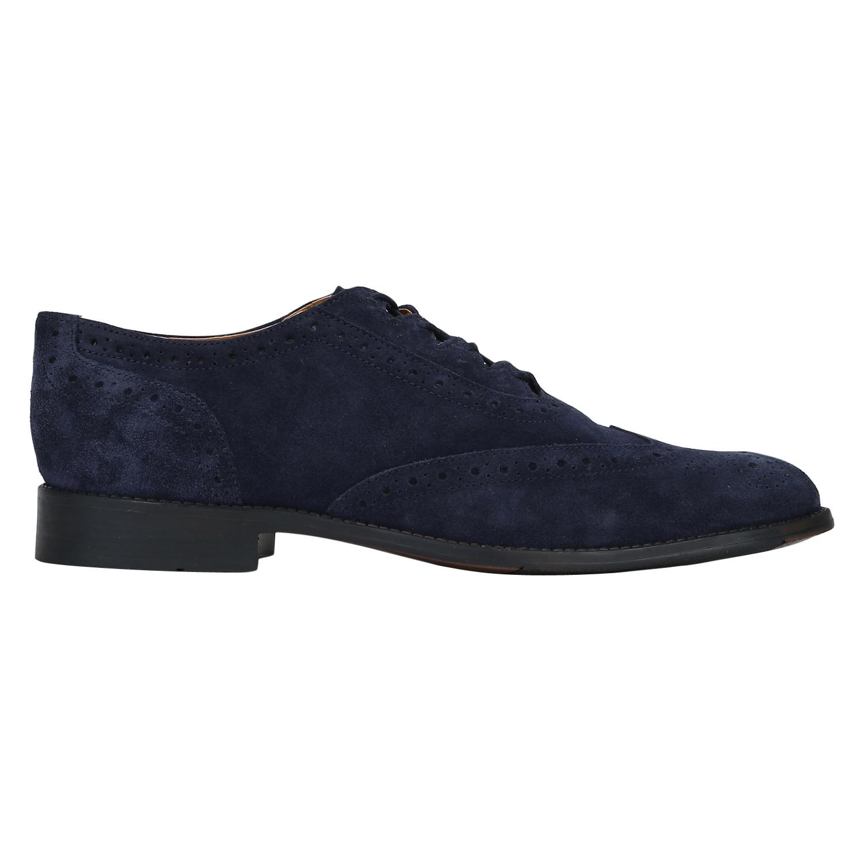 DEL MONDO   Del Mondo Suede Leather Blue Colour Lace up Brogue Shoe for Mens