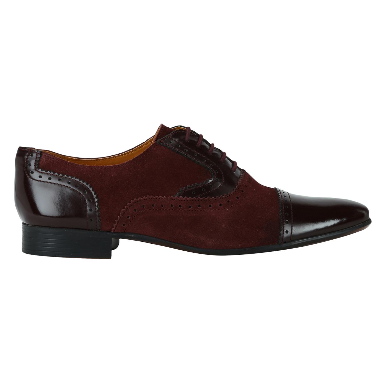 DEL MONDO | Del Mondo Genuine Leather Burgundy Colour oxford Lace up Shoe for Mens