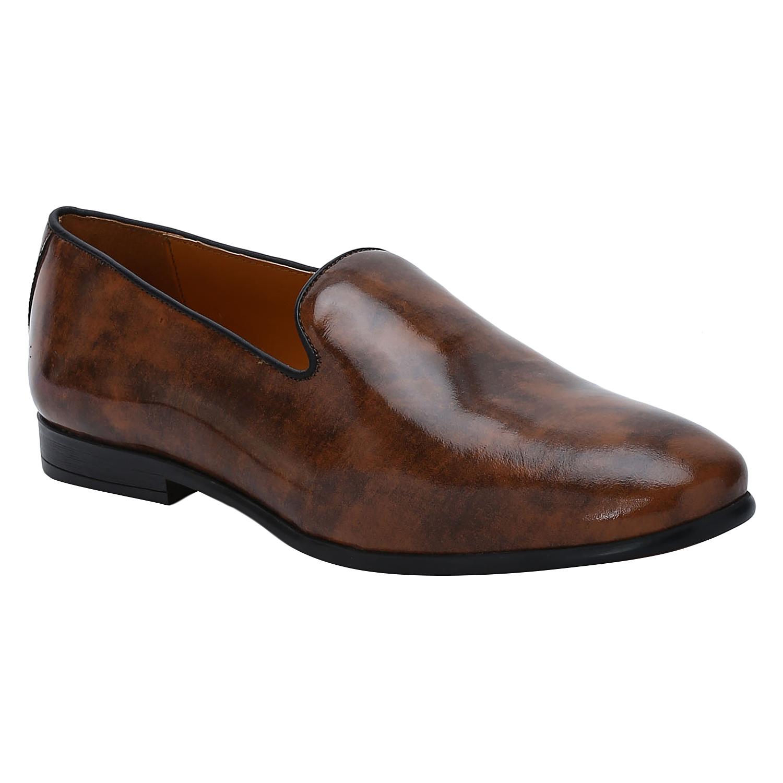 DEL MONDO | Del Mondo Genuine Leather Washed Tan Colour Slipon Loafer Shoe for Mens