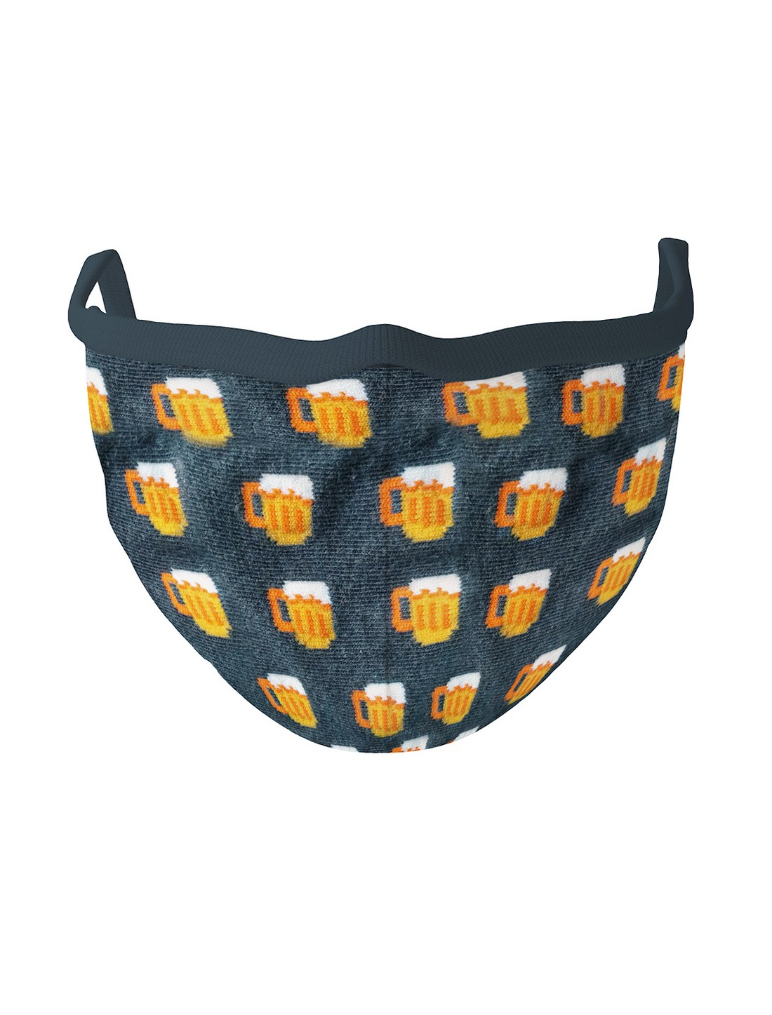 Soxytoes | Soxytoes Navy Blue Stylish Protective Super Safe Washable Knitted Cotton Mouth Cover Face Mask