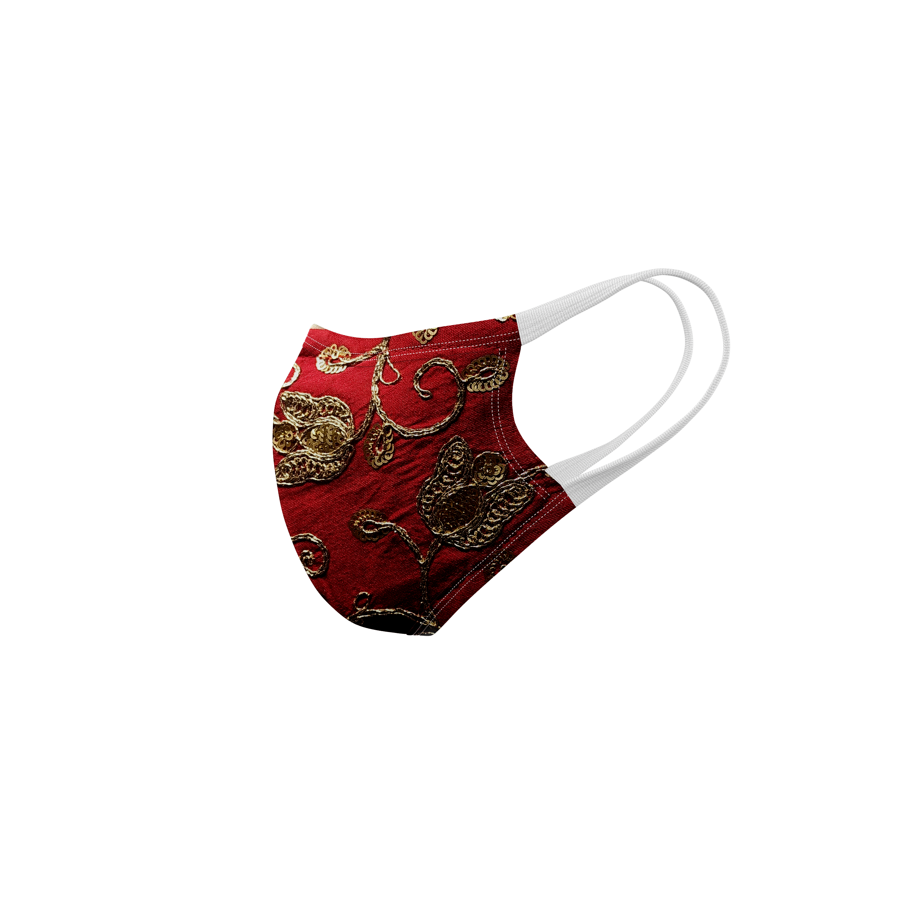Ethnicity | Ethnicity Red_Beige pack of 2 Women fashion mask