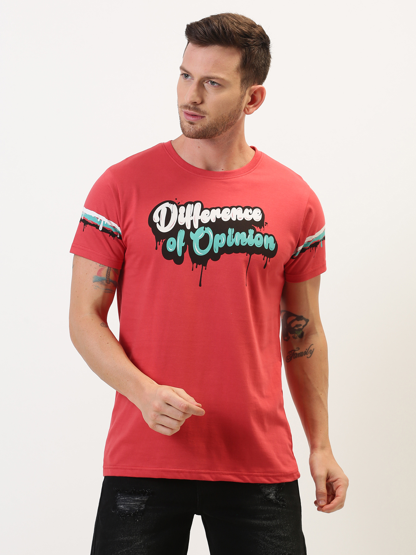 Difference of Opinion   Difference of Opinion Typographic Printed T-shirt