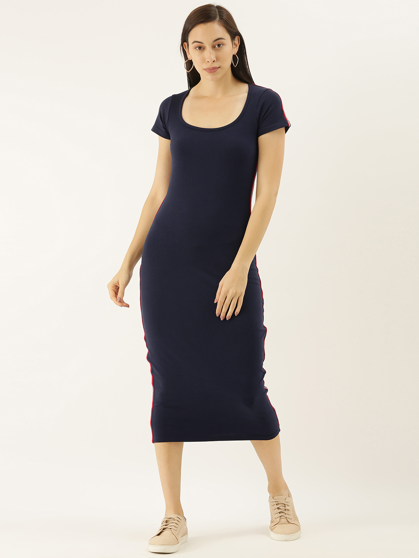 Difference of Opinion | Difference of Opinion Solid Bodycon Dress