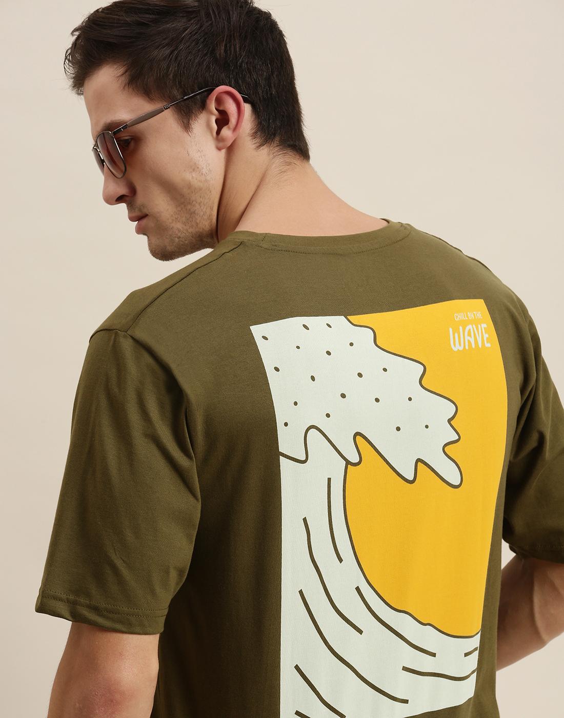 Difference of Opinion   Difference of Opinion Olive Graphic Oversized T-Shirt