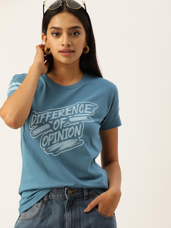 Difference of Opinion   Difference of Opinion TypoPrinted Printed T-shirt