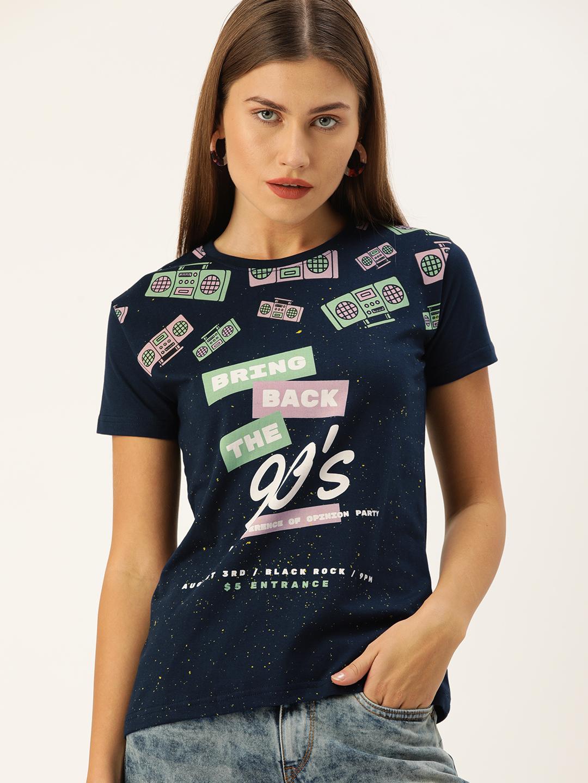 Difference of Opinion   Difference of Opinion Women Typography Printed T-shirt