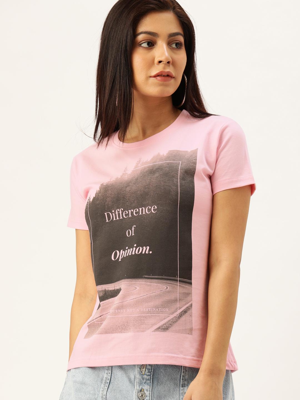 Difference of Opinion | Difference of Opinion Women Typography Printed T-shirt