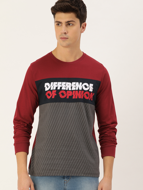 Difference of Opinion   Difference of Opinion Full Sleeve Printed T-shirt