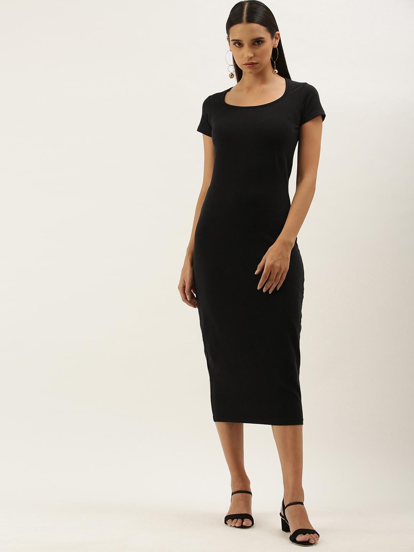 Dillinger | Dillinger Black Solid Bodycon Dress