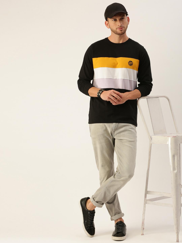 Dillinger | Dillinger Men's Full sleeve Color-block T-shirt