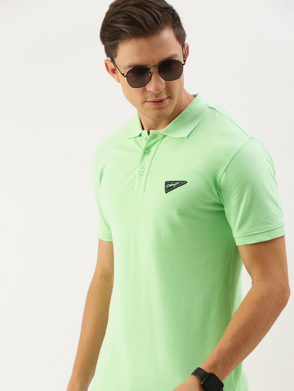 Dillinger | Dillinger Men's Green Solid Polo T-shirt