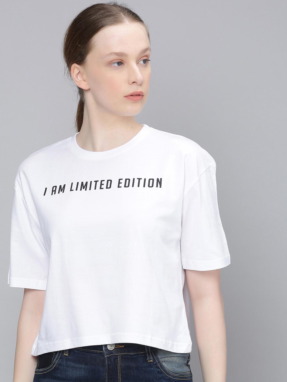 Dillinger   Dillinger Women Boxy Crop Printed T-Shirt