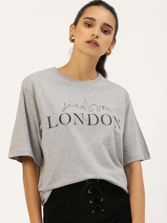 Dillinger   Dillinger Women's Graphic Printed Oversized T-shirt