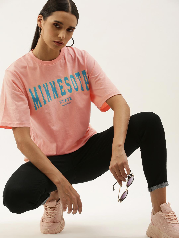 Dillinger | Dillinger Women's Pink Typographic T-Shirt