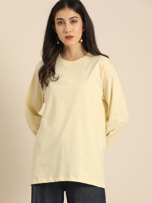 Dillinger | Dillinger Women's Oversized Full-Sleeved Printed T-Shirt