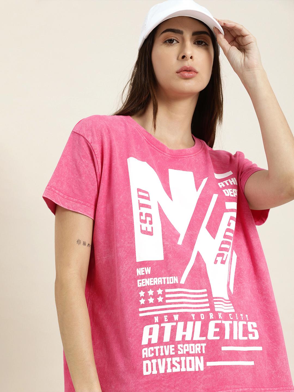Dillinger | Dillinger Pink Typographic T-shirt