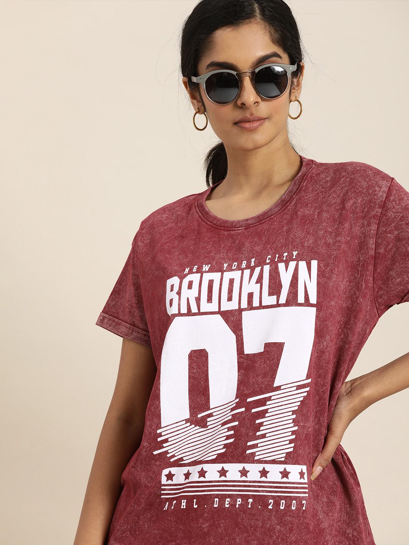 Dillinger | Dillinger Maroon Typographic T-shirt