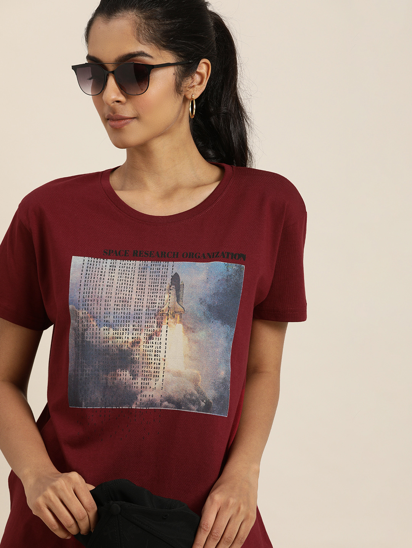 Dillinger   Dillinger Maroon Graphic T-shirt