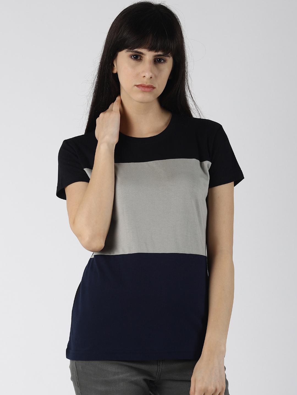 Dillinger | Dillinger Women's Solid Color-Block T-shirt
